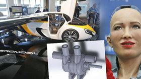 Umělé srdce, létající auta i robotické ženy nejsou budoucností, ale přítomností