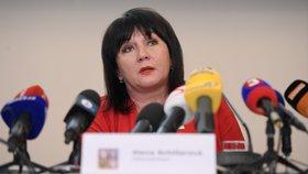 Ministryně financí Alena Schillerová vystoupila v Praze na tiskové konferenci k výsledkům státního rozpočtu za rok 2018 (3. 1. 2019).