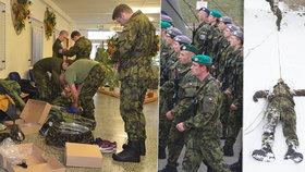 Vojáci trénují nejen na cvičišti, ale také v přírodě