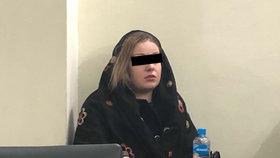 Pašeračka Tereza H.(22) u soudu 8. 1. 2019