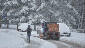 Dopravu v Česku trápí sníh (8. 1. 2019)