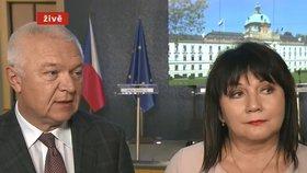 Jaroslav Faltýnek (ANO) a Alena Schillerová (za ANO) po jednání koaliční rady (9. 1. 2019)