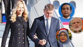 Andrej Babiš vyrazí do Indie, Thajska a Singapuru. Bez manželky Moniky, setkat by se měl se singapurskou prezidentskou i thajským a indickým premiérem