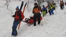 Lavina na Slovensku v Malé Fatře zabila domácího skialpinistu. Slovenská horská služba varovala, že kvůli sněžení lavinové nebezpečí roste. (9. 1. 2019)