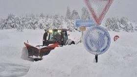 Kalamita v Česku: Sníh na Božím Daru (10. 1. 2019)