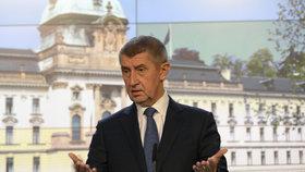 Andrej Babiš na Úřadu vlády hájil projekt nové vládní čtvrti v Letňanech (10.1.2019)