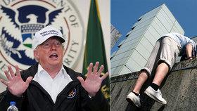 Trump v minulosti radil studentům, jak se nejlépe dostat přes zeď.