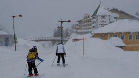 Rakousko na začátku ledna zasypaly přívaly sněhu