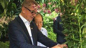 Po Andreji Babišovi pojmenovali v botanické zahradě v Singapuru orchidej (15. 1. 2019)
