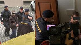 Nenávist a křik u soudu: Podezřelí vrazi čerpadlářky Jany skončili ve vazbě