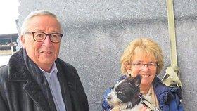 """Končící šéf Evropské komise Jean-Claude Juncker si pořídil s manželkou Christiane čtyřnohého křížence teriéra. Přejmenovali ho na Caruso. Evropská unie se tak dočkala svého """"prvního psa"""""""