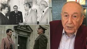 Emil Pražan (91) býval Černý baron, účetní i kameraman