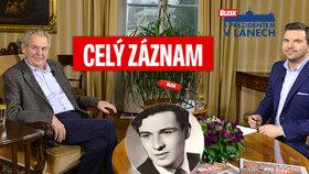Prezident Zeman o důchodů, blbcích u Palacha i kauze Huawei: Exkluzivně z Lán