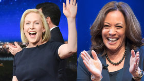 Ženy v boji o Bílý dům. Do boje jdou senátorky Harrisová (vpravo) i Gillibrandová (vlevo).