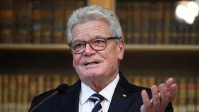 Německý exprezident Joachim Gauck obdržel cenu Karla IV. od Univerzity Karlovy a Prahy (21. 1. 2019).