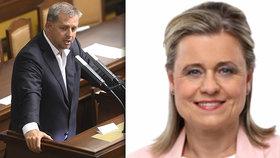 Veroniku Vrecionovou by mohl v Poslanecké sněmovně nahradit bývalý ministr zemědělství Petr Bendl (oba ODS)