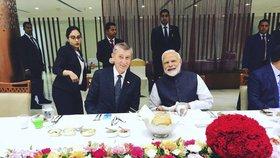 Andrej Babiš v Indii: S premiérem Naréndrou Modim