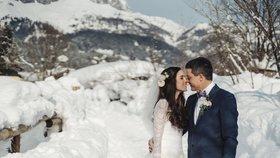 O sníh ani romantiku nebyla nouze.