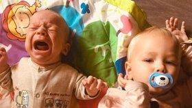 Občas je mateřský život i úsměvný, plačící miminko ale tak ne