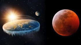 Příznivci teorie ploché Země vysvětlili, jak to bylo s pondělním zatměním Měsíce