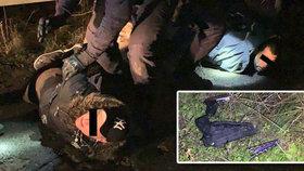 Zásah policie probíhal na Praze 4 v neděli v noci.