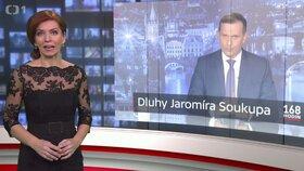 Pořad ČT 168 hodin moderovaný Norou Fridrichovou rozkryl údajné velmi vysoké dluhy Jaromíra Soukupa, majitel Barrandova se brání soudně.