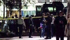 Pět amerických policistů bylo zraněno při pondělní přestřelce v texaském Houstonu. (29. 1. 2019)