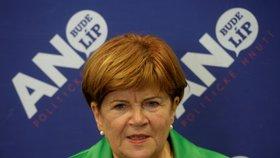Senátorka za ANO Zuzana Baudyšová (na snímku z 18. října 2014) rezignovala k 31. lednu 2019 ze zdravotních důvodů na senátorský mandát za Prahu 9. V obvodu se budou muset ještě letos konat doplňovací senátní volby.