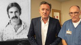 Novinář Piers Morgan a jeho setkání se sériovým vrahem Bernardem Gilesem.