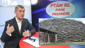 Andrej Babiš opět hájil ve studiu Blesku farmu čapí hnízdo. Dotace prý jeho bývalá firma vrátila kvůli ministryni financí Schillerové