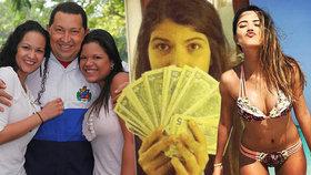 Zlatá mládež Venezuely: Běžní lidé strádají a dcery bývalého prezidenta Cháveze si užívají luxusu.