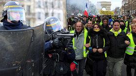 Protesty žlutých vest ve Francii (9.2.2019)