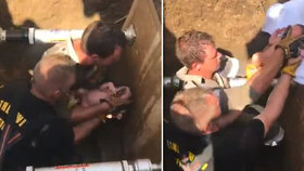 V odvodňovací stoce našel kolemjdoucí novorozeně. Záchranáři ho po třech hodinách v pořádku vytáhli.