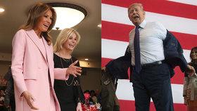 Melania Trumpová na Valentýna vyrazila za dětmi do nemocnice. Lékařská prohlídka u prezidenta Trumpa odhalila obezitu.