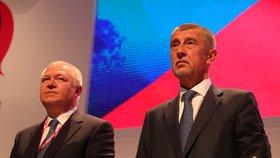 Andrej Babiš a Jaroslav Faltýnek mají své pozice předsedy a prvního místopředsedy hnutí ANO téměř jisté (17. 2. 2019).