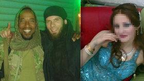 Foto jedné z nevěst ISIS (vlevo), vpravo pak dvojice mužů, kteří se stali osudovými 26leté Němce