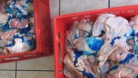 Závadné hovězí maso z Polska bylo dovezeno i do Česka, veterinární inspektoři jej znehodnotili modrou barvou