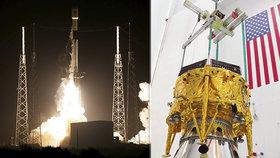 Z Mysu Canaveral míří k Měsíci izraelské robotické vozítko