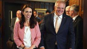 Novozélandská premiérka Jacinda Ardernová jednala s australským premiérem Scottem Morrisonem.