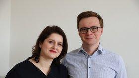 Jana Maláčová s manželem Alešem Chmelařem