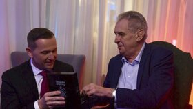 Prezident Miloš Zeman na oslavě 50. narozenin šéfa TV Barrandov Jaromíra Soukupa