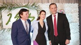 Na oslavu majitele TV Barrandov dorazil i Pavel Trávníček.