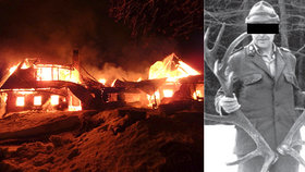 Tragický požár v Krkonoších: V chalupě uhořel hajný?