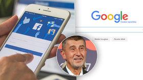remiér Andrej Babiš (ANO) podporuje zavedení zvláštní daně pro internetové giganty jako Facebook, Apple či Google.