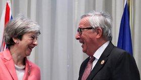 Theresa Mayová a Jean-Claude Juncker – předseda Evropské komise – společně na summitu EU a afrických zemí v Egyptě. Možná jeden z posledních summitů Mayové v rámci Unie (25. 2. 2019).