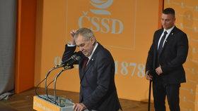 Prezident Miloš Zeman na sjezdu ČSSD (1.3.2019)