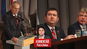 Zeman odložil hůl a slíbil ČSSD hlas. Na oživení to Hamáčkovi s Onderkou stačit nebude, hodnotí sjezd ČSSD komentátor Petr Holec.