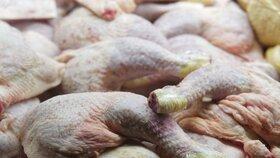 Ze 4515 kg kuřecího masa z Polska, ve kterém může být salmonela, veterináři zachytili zhruba tunu. Dalších 850 kilogramů v Ústeckém kraji se došetřuje, maso bylo mražené, je tedy možné, že se ještě nezkonzumovalo, řekl dnes ČTK mluvčí Státní veterinární správy (SVS) Petr Vorlíček. (ilustrační foto)
