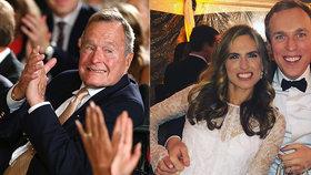 Ashley Bushová, vnučka exprezidenta George Bushe staršího (†94) se o víkendu vdávala, (5.3.2018).