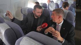 Andrej Babiš při rozhovoru pro Blesk Zprávy při příletu z USA do Prahy